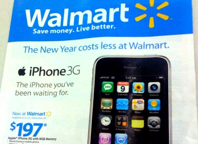 iPhones Heading to Walmart