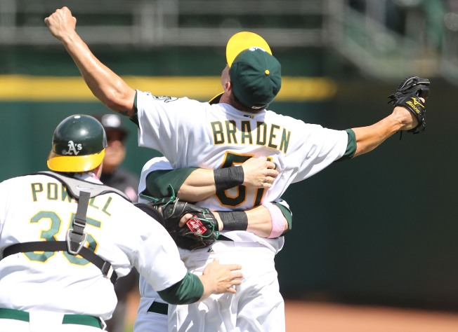 A's Pitcher Throws Perfect Game
