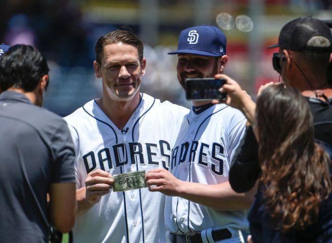 John Cena Makes Good On Bet With Padres Pitcher Logan Allen