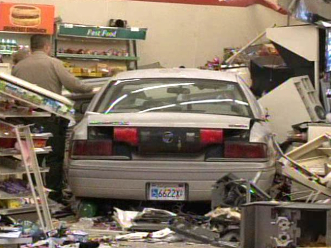 Woman Slams Into 7-Eleven, Hits Customer