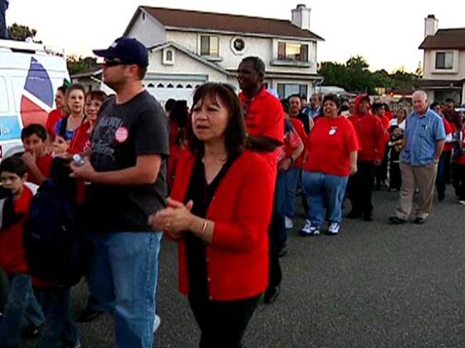 Teachers Hold Vigil for a Fair Contract