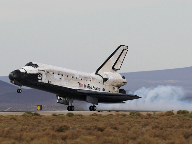 San Diegan Lands Space Shuttle In California