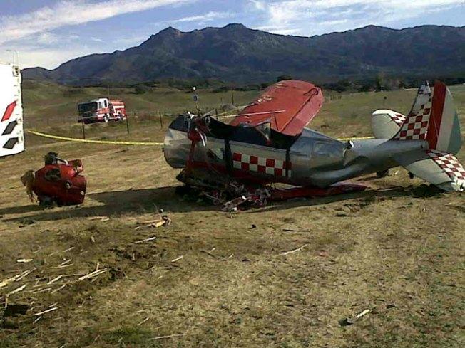 Biplane Crash Kills Father, Injures Son