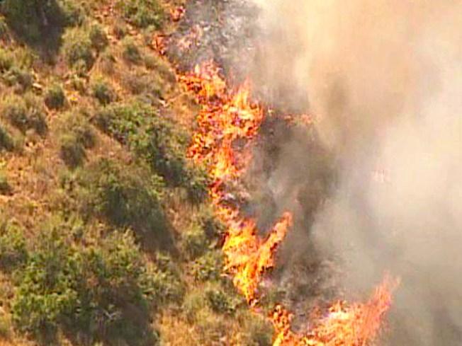 Brush Fire Breaks Out in Poway