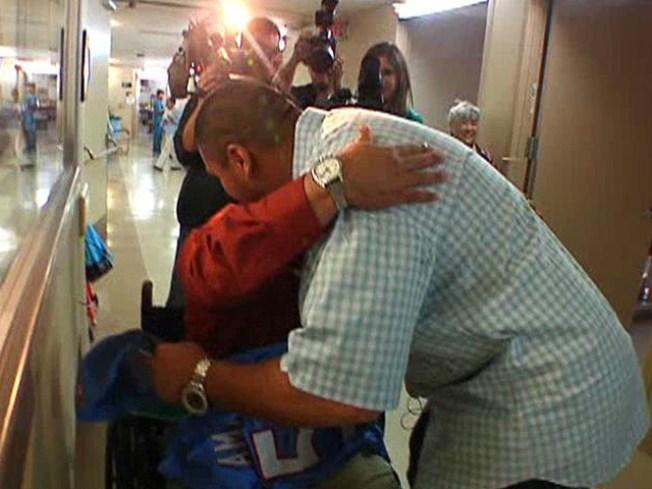 Hatchet Attack Victim Gets NFL Hug