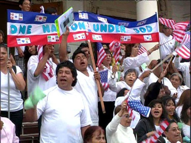 Protesters March for Immigration Reform