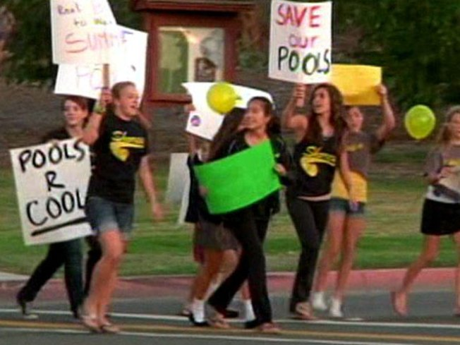 Students Protest to Save Pools