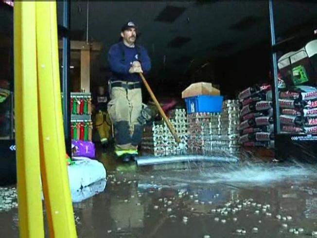 Stores Flooded, Goods Damaged