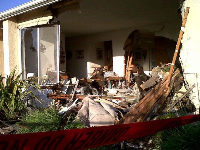 Truck Plows Through Mira Mesa Home