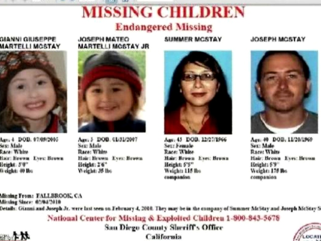 Detectives Hope Fliers May Help Find McStay Family