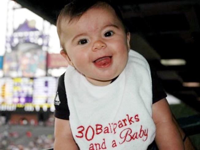 Baby Sees 30 MLB Ballparks in 2009 Season