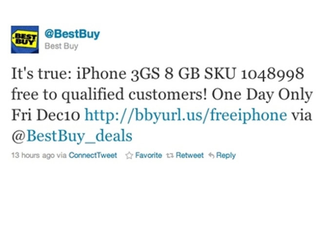 Best Buy Offering Free iPhones for 1 Day Only
