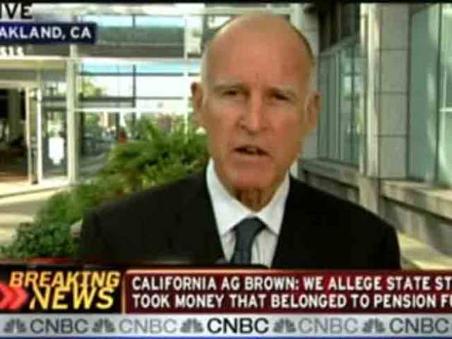 Jerry Brown Takes On CNBC