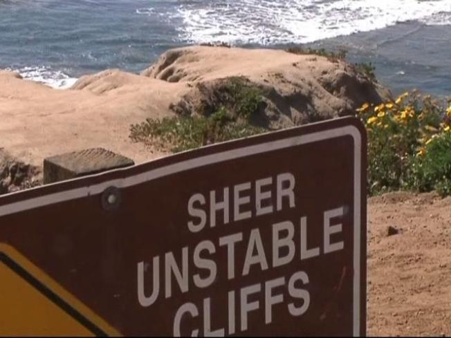 Two Men Fall From Sunset Cliffs