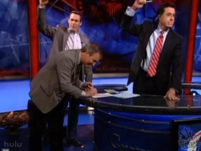 Colbert To Sponsor U.S. Speed Skating
