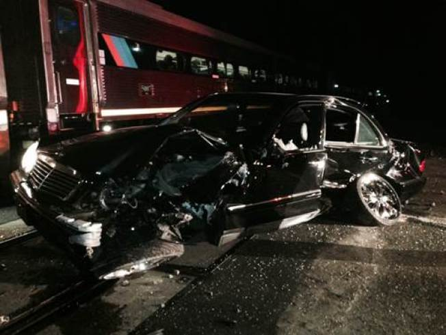 Man Escapes Injury After Car Hit By Amtrak Train in Pinole