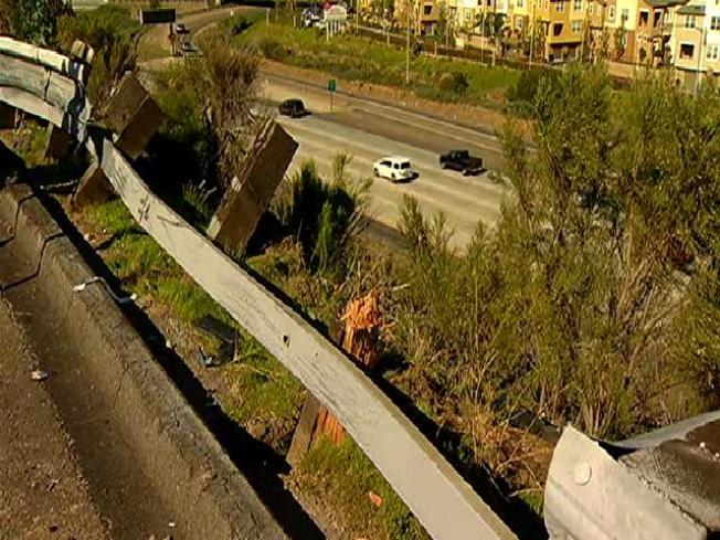 Family Car Sent Over 120-Foot Embankment After Collision