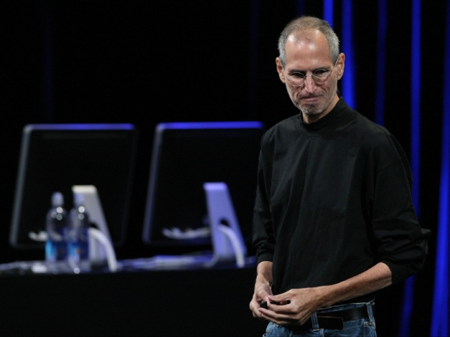Steve Jobs and Friends Play Apple's New Tune