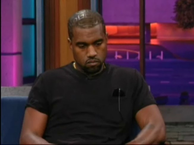 Kanye West Gets Teary-Eyed on Leno Premiere