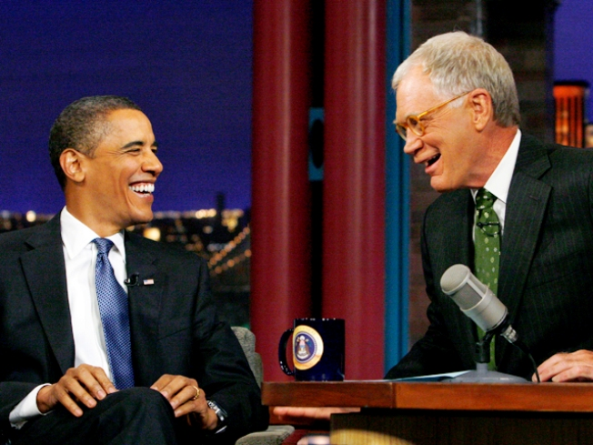 Obama Gives Letterman a Top 10 Moment