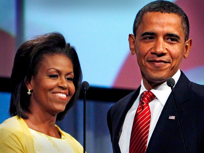 Michelle Rips Barack, First Grandma on Leno