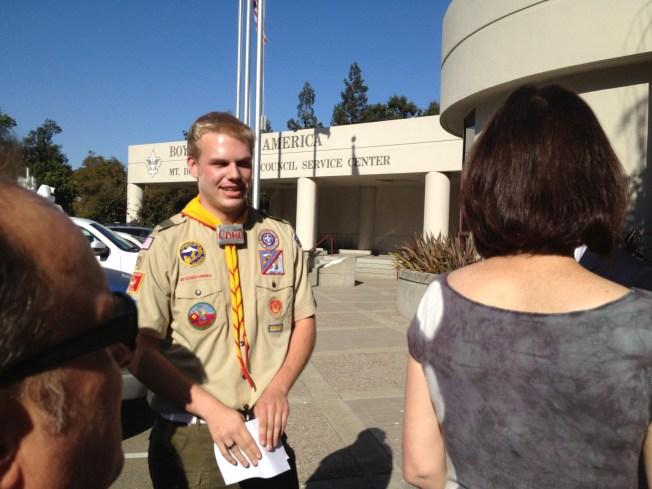 Gay Boy Scout Hopeful of National Change