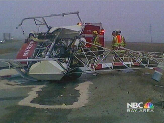 Chopper Crashes on Highway 101