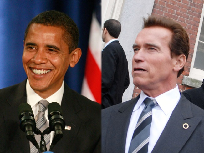 Schwarzenegger Muscles Obama on Day One