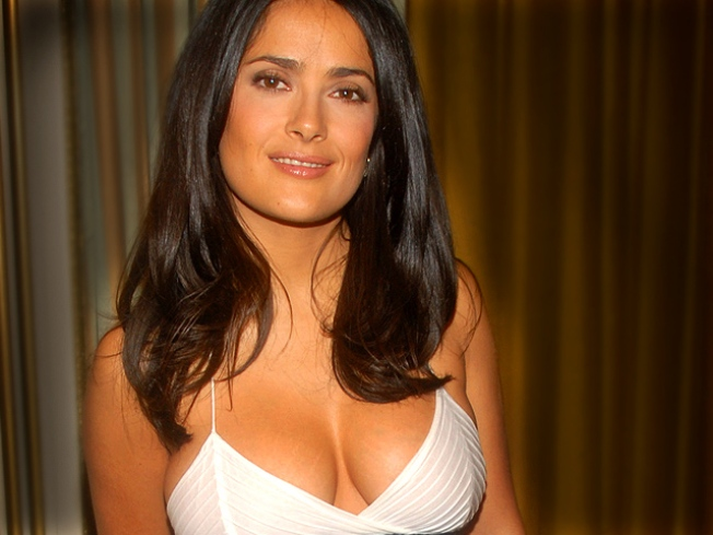Salma Hayek Debuts Gucci Gown At Cannes Film Fest