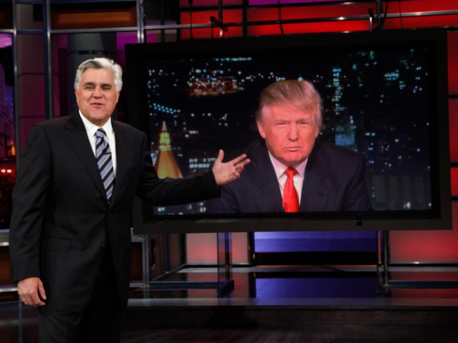 "Trump ""Fires"" Leno on Final Prime-Time Show"