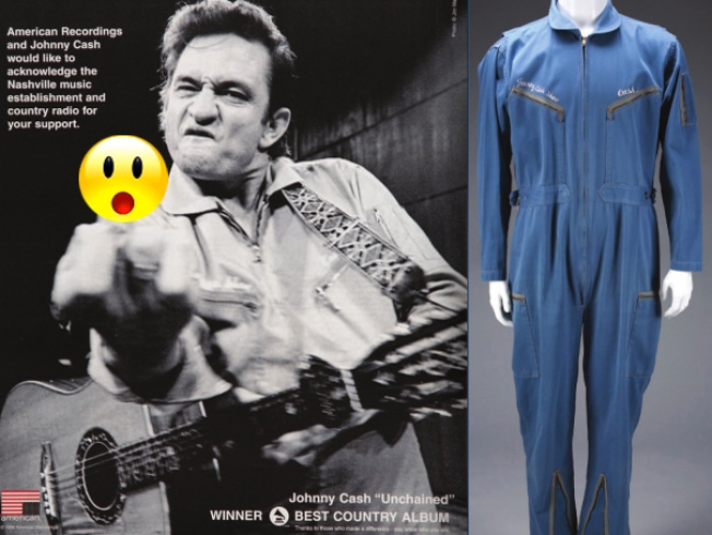 Man in Blue: Johnny Cash's Denim Jumpsuit Fetches $50G