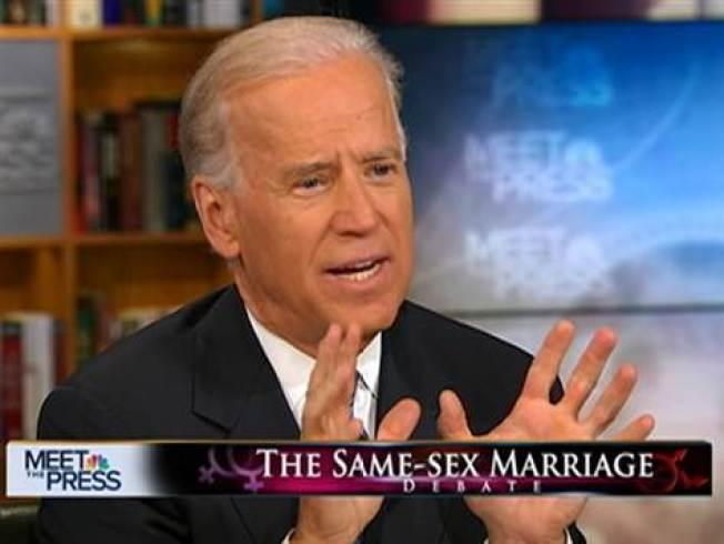 Biden OK With Gay Marriage Equal Rights