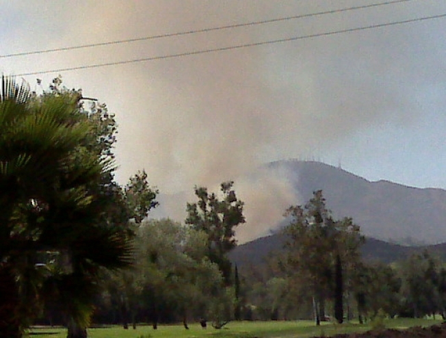 Burning Reminder As Fire Edges Towards Homes