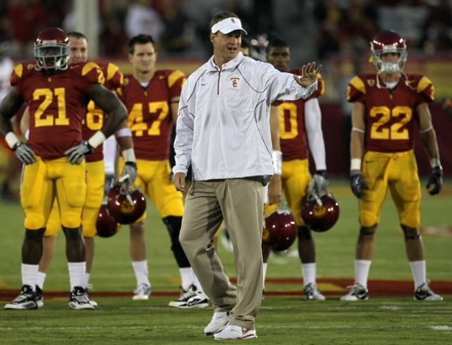 Trojans Win But Kiffin Upset with Team's Discipline