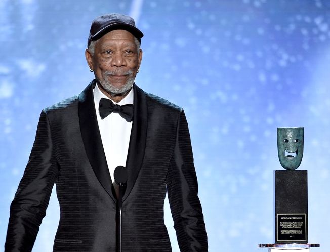 Actor Morgan Freeman Receives Screen Actors Guild Life Achievement Award