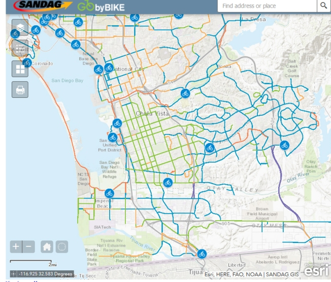 New Interactive Bike Map Released for San go County ... on sd mesa college campus map, compton community college campus map, dine college campus map, california college campus map, james sprunt community college campus map, los angeles southwest college campus map, college of san mateo campus map, lassen college campus map, city college of san francisco campus map, west hills college lemoore campus map, college of the canyons campus map, lake tahoe community college campus map, los angeles city college campus map, santa barbara college campus map, wvc campus map, pacific union college campus map, baker college muskegon campus map, dvc college campus map, arizona western college campus map, eastern arizona college campus map,