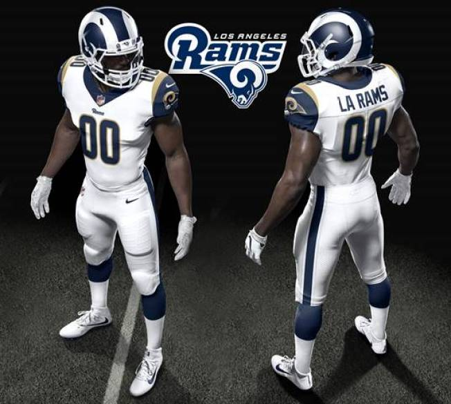 Los Angeles Rams Unveil New Uniforms for 2017 Season - NBC 7 San Diego 2ef06e9c5