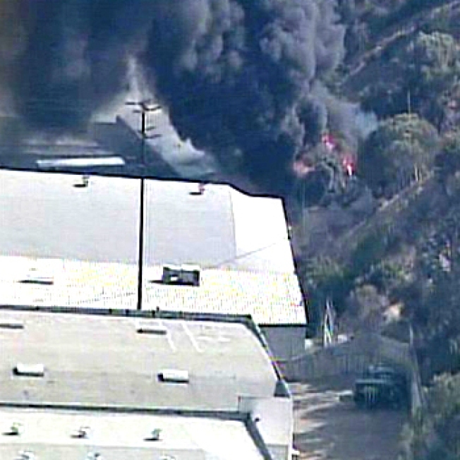 Explosion Sparks Industrial Fire