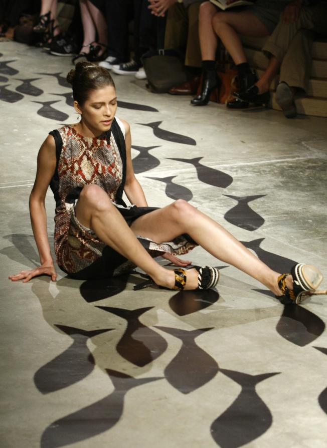 Two Models Fall, Many Stumble at Prada