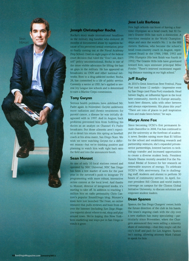 NBC San Diego's Sean Monzet Director of Integrated Media-Featured in San Diego Magazine's 50 People to Watch