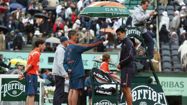 French Open Men's Final Suspended by Rain