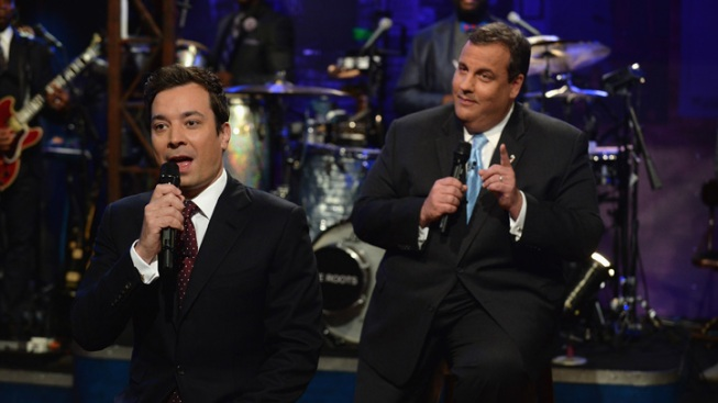"N.J. Gov. Chris Christie ""Slow Jams"" with Jimmy Fallon About Senate Decision"
