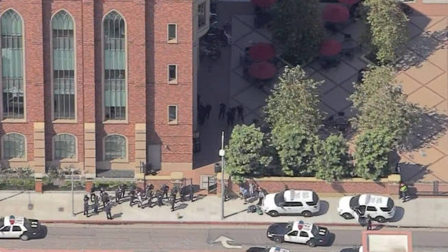 LAPD No Shooting at USC ... Campus Safe
