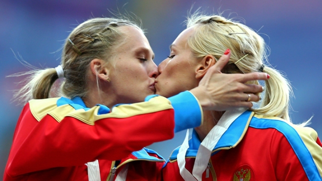 Podium Kiss Between Two Russian Female Athletes Sparks Debate