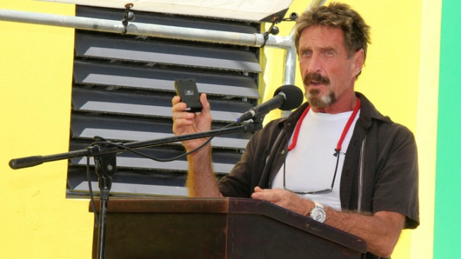 Fugitive McAfee Says He Escaped Belize