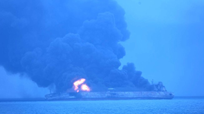 Iran Oil Tanker Explodes, Sinks off China With No Survivors