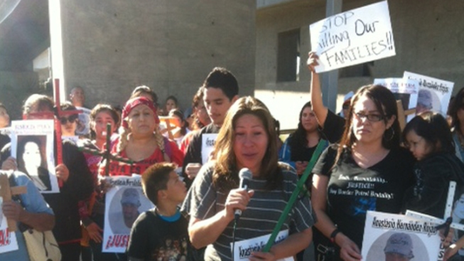 Families Protest Alleged Border Patrol Brutality