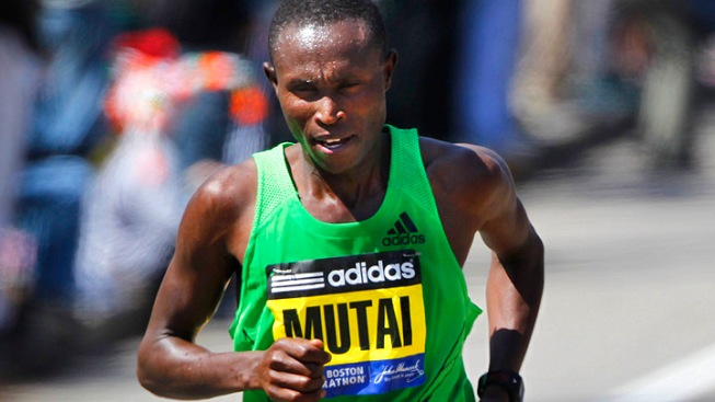 Kenyan Sets Record in Boston Marathon