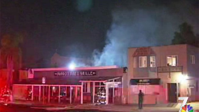 Babbos Bar and Grille Damaged by Fire
