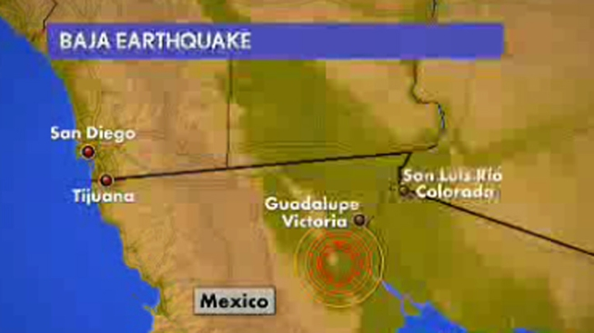 Baja Earthquake Felt in San Diego
